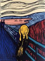 Andy Warhol, 'The Scream - Orange', 1967 printed later