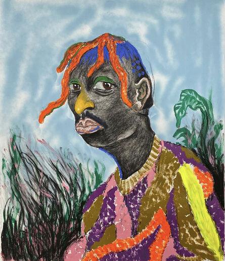 Simphiwe Ndzube, 'Portrait of Nogalelekile', 2020