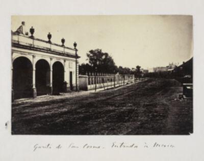 Claude Joseph Désiré Charnay, 'Garita de San Cosme - entrada … Mexico', 1858