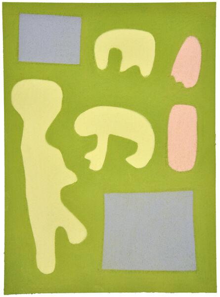 Julian Martin, 'Untitled (shapes on green)', 2014