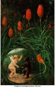 Frederick Stuart Church, 'Fairy and Bear in Garden', 1911