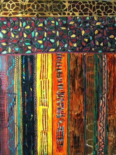 Pacita Abad, 'Stained glass door in Sanaa', 1998