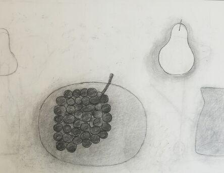 William Scott (1913-1989), 'Untitled (Plate, Grapes, Pear & Jug)', 1975