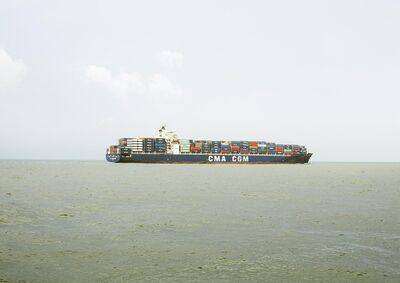 Victoria Sambunaris, 'Untitled (Container Ship, CMA CGM Kingfish, Liberia), Houston Ship Channel, Texas', 2016