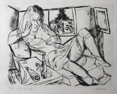 "Max Beckmann, '""Frau in der Nacht"" (Woman at Night)', 1920"