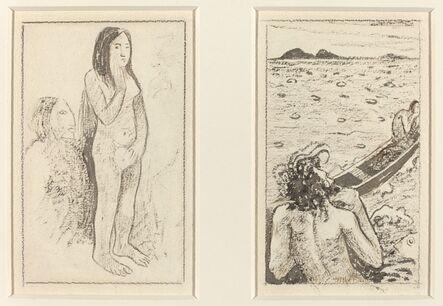 Paul Gauguin, 'Parau No Te Varau Ino (left); Tahitian Legend (right)', ca. 1890/1895