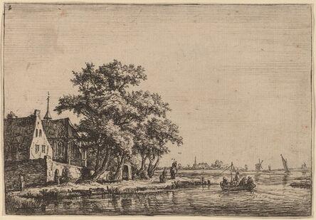 Anthonie Waterloo, 'Churchyard at the Waterside'