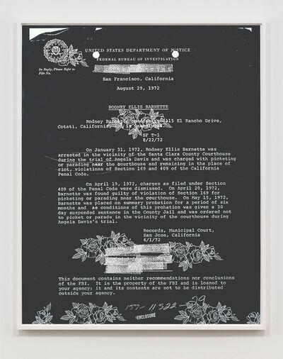 Sadie Barnette, 'FBI Drawings: Picketing or Parading', 2021