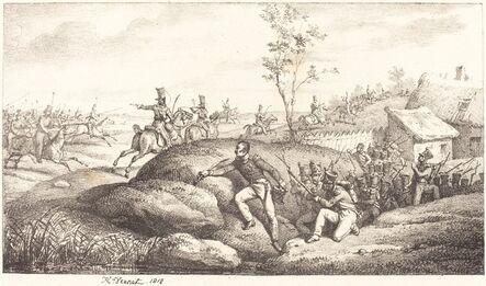 Horace Vernet, 'Infantry Ambush against the Cosacks', 1818