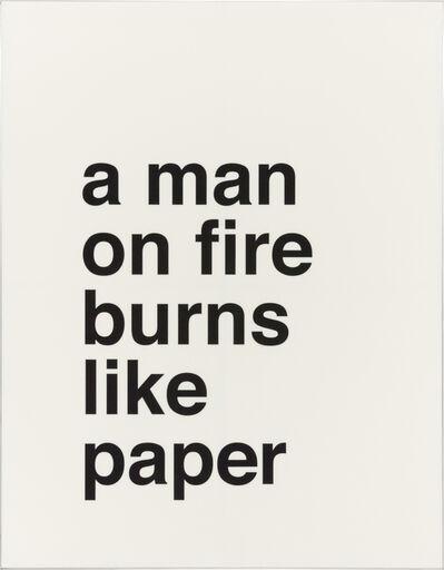Juliana Stein, 'A man on fire burns like paper', 2017
