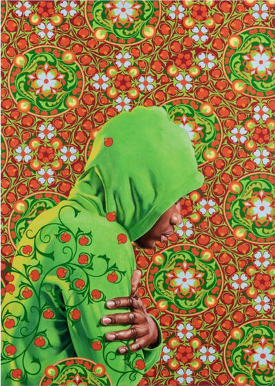Kehinde Wiley, 'Head of a Young Girl Veiled', 2019