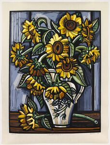 David Bates (b. 1952), 'Sunflowers', 2008