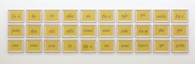 Johanna Calle, 'Nominal (las letras)', 2011