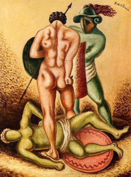 Giorgio de Chirico, 'Tre gladiatori', 1963