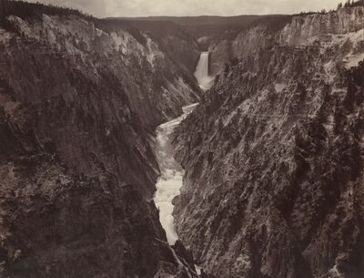 F. Jay Haynes, 'Grand Canyon of the Yellowstone and Falls', ca. 1884
