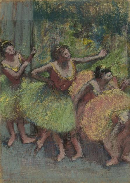 Edgar Degas, 'Dancers in Green and Yellow,', ca.1903