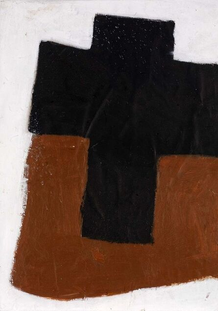John Blackburn, 'Cross (Black on Brown)', 1969
