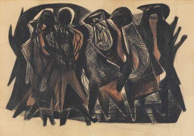 Hans Uhlmann, 'untitled (figurative composition)', 1951