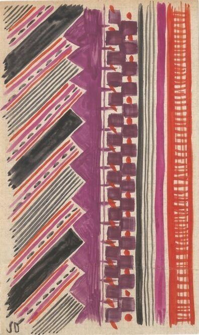 Sonia Delaunay, 'Project of Fabrics', c. 1965