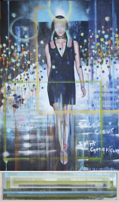 Peter Hoffer, 'Sacré-Coeur - large, fashion, female, abstract, graffiti, resin, acrylic, panel', 2015