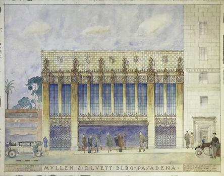 Harold Maurer, 'Mullen & Bluett Bldg. Pasadena, Ca.  Designed by Morgan, Walls, & Clements Architects, Los Angeles.  ', 1928