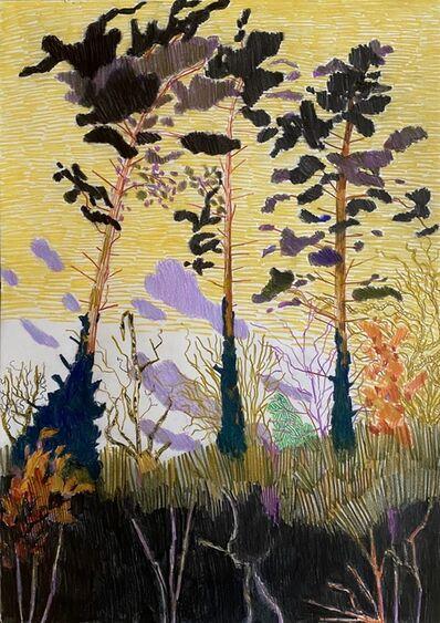 Per Adolfsen, 'Three Pines on a Hill', 2021