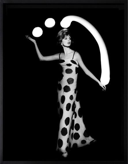 William Klein, 'Dorothy juggling white light balls, Paris', 1962