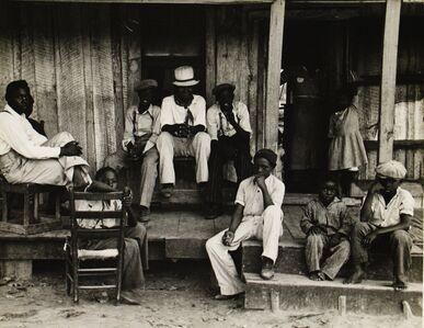 Ben Shahn, 'Sharecropper's children on Sunday, Little Rock, Arkansas', October 1935