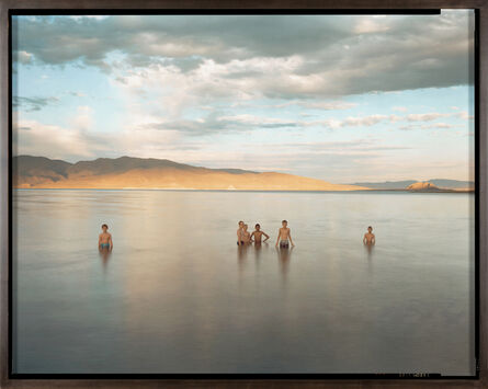 Richard Misrach, 'Boy Scouts and Fremont's Pyramid, Pyramid Lake Indian Reservation, Nevada', 1991