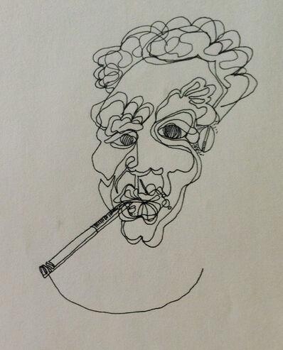 "Jean-Michel Basquiat, '""Untitled"", High School Sketch Book Page', 1978"