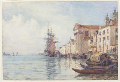David Law, 'The Giudecca Canal with Shipping near the Chiesa dei Gesuati', 1880s