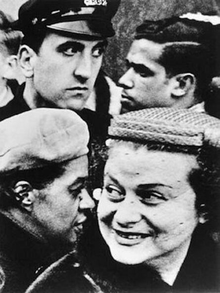 William Klein, '4 Heads, New York', 1954
