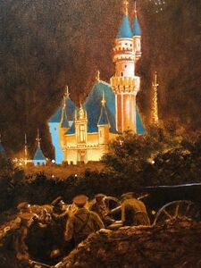 John Bowman, 'October, Night Scene with Castle and Soldiers Oil Painting', 1980-1989