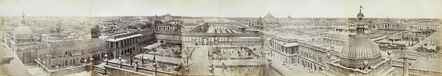 Felice Beato, 'Panorama of Lucknow, The Courtyards of the Qaisarbagh from the Roshan-ud-daula Kothi.', 1858