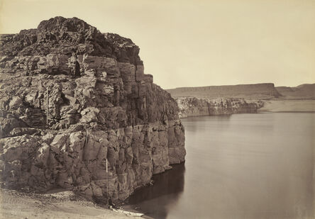 Carleton E. Watkins, 'The Dalles, Extremes of High & Low Water, 92 ft. / Head of the Dalles, Columbia River, Oregon', 1883