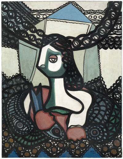 Amelia Peláez, 'Mujer con peces (Woman with Fish)', 1948