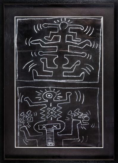 Keith Haring, 'Subway Drawing', ca. 1983