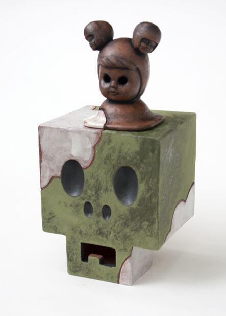 John Donovan, 'Green Cloudy CubiSkull', 2017
