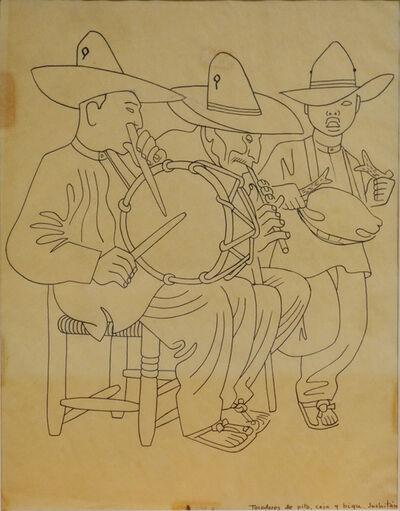 Miguel Covarrubias, 'Tocadores de pito, caja, y bigo'