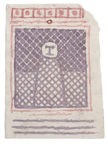 James Castle, 'Untitled (Patterned figure)', n.d.
