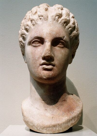 Unknown Greek, 'Marble head of a goddess', 4th century B.C.