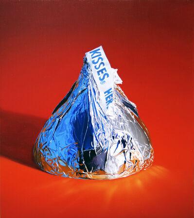 Craig Cully, 'Big Kiss Blue Reflection Orange Ground'