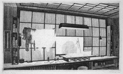 Armin Landeck, 'The Engraver's Workbench', 1978