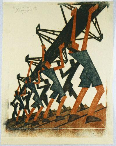 Sybil Andrews, 'Bringing in the Boat', 1933