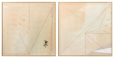Hyland Mather, 'Melody Tight Crop, Light (diptych)', 2021