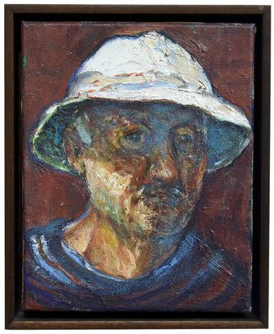 Bernard Chaet, 'Self Portrait Orange Painting', 2003