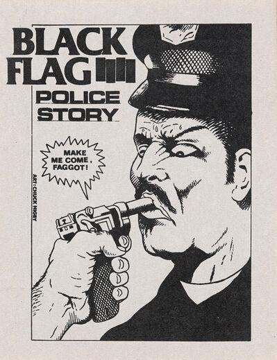 Raymond Pettibon, 'Raymond Pettibon, Black Flag Police Story', 1982