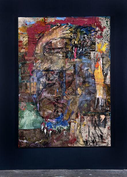 Daniel Crews-Chubb, 'Mios (Blue Lions Head with Pink Tongue)', 2019