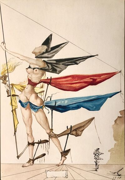 """Salvador Dalí, 'Projet de costume pour """"As you like it""""', 1948"""