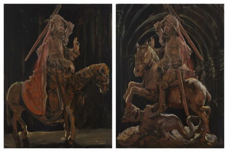 Li Qing 李青 (b. 1981), 'Images of Partial Mutual Undoing·Christ and St. George', 2015